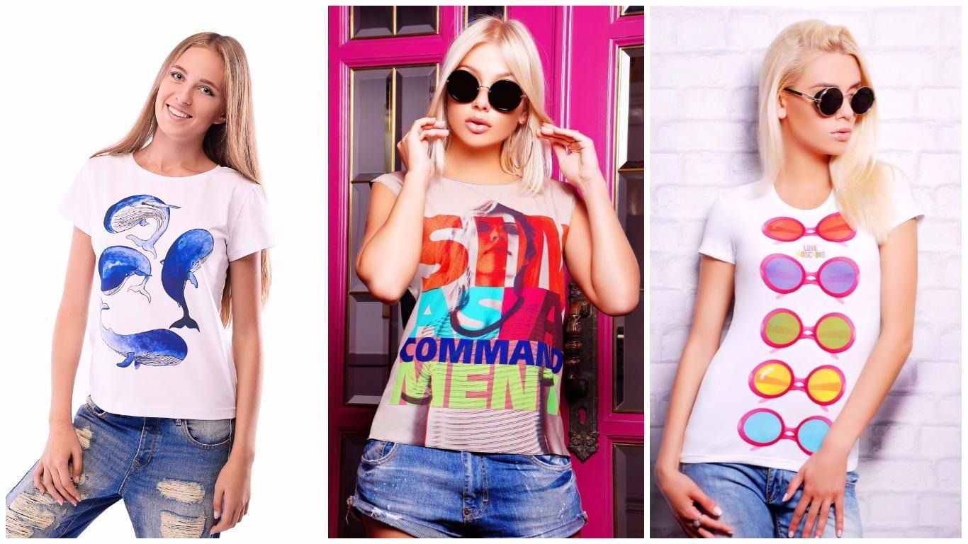 ff26b2b5121d Модные женские футболки весна-лето 2019 фото