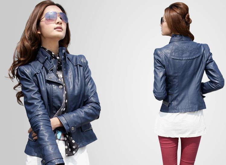 Модные женские кожаные куртки весна-лето 2019 3957a3c0c1280