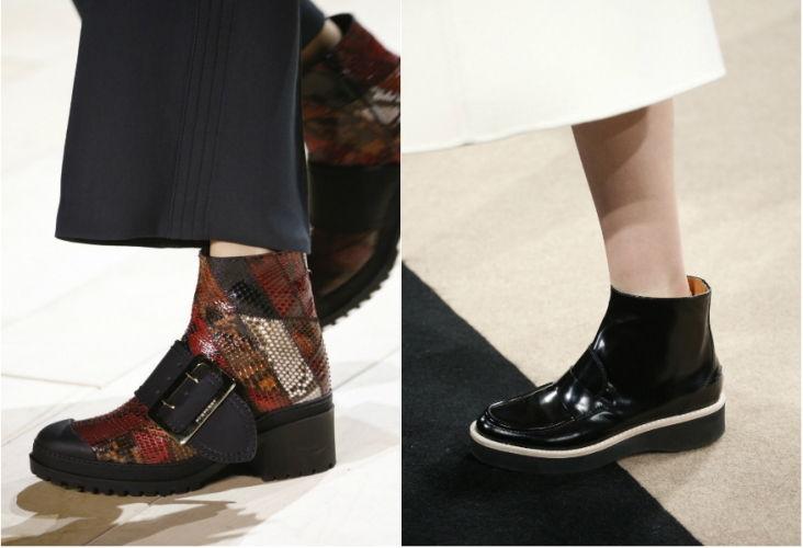 Женские ботинки из модного материала осень-зима 2019-2020