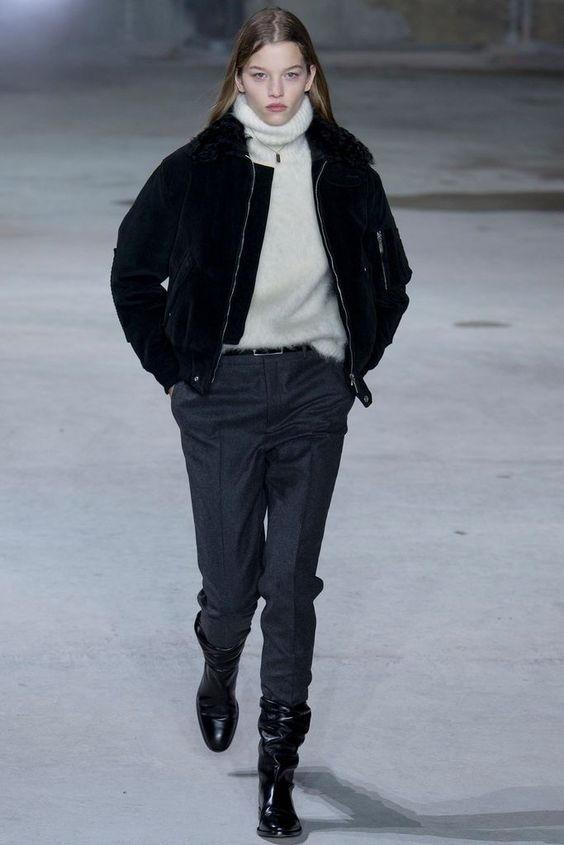 Зауженные женские брюки осень-зима 2020-2021