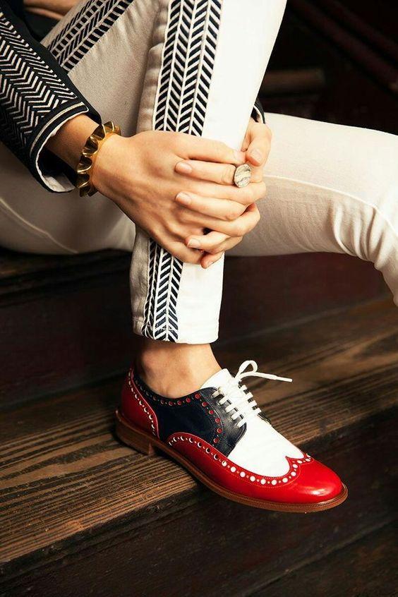 Женские туфли в мужском стиле осень-зима 2018-2019