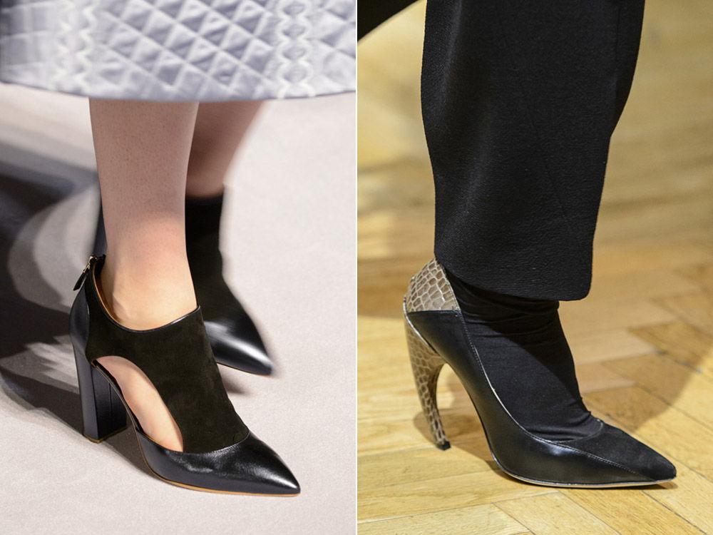 Стильные женские остроносые туфли осень-зима 2018-2019