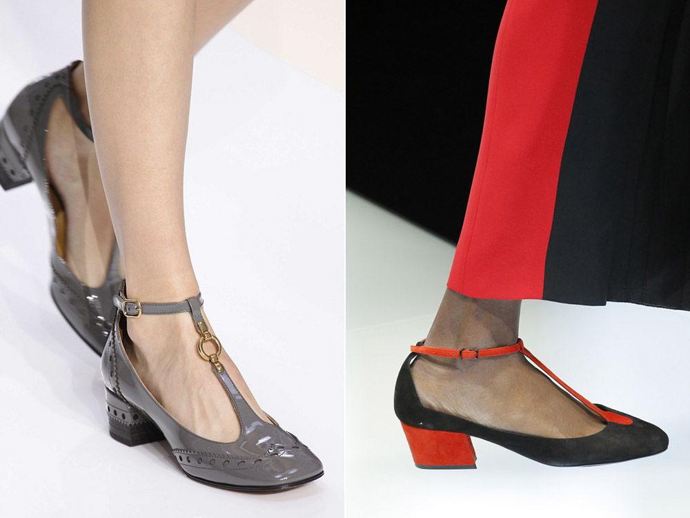 Стильные женские туфли на низком каблуке осень-зима 2018-2019