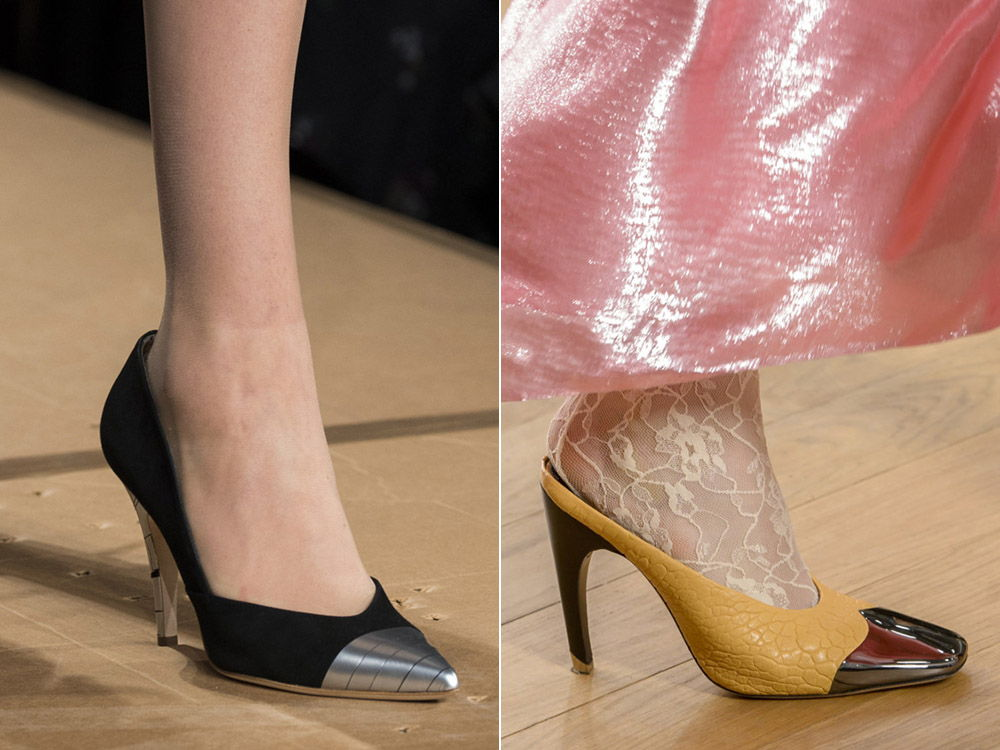 Стильные женские туфли с металлическим носом -тренд сезона осень-зима 2018-2019