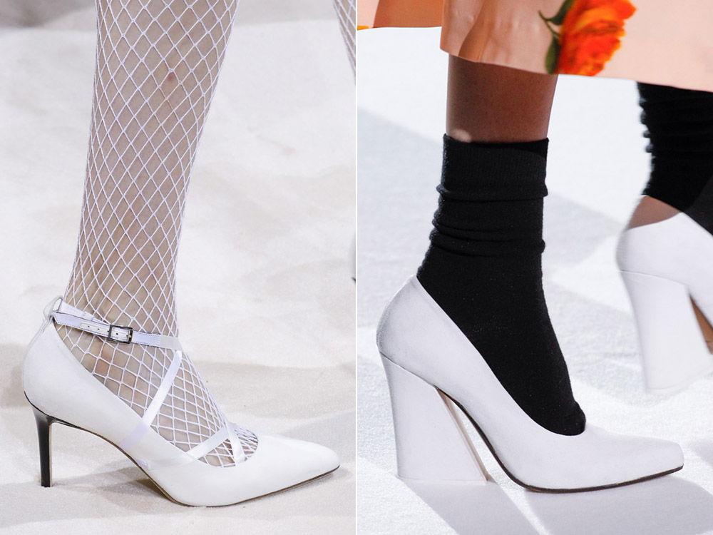 Белые жнские туфли - тренд сезона осень-зима 2018-2019