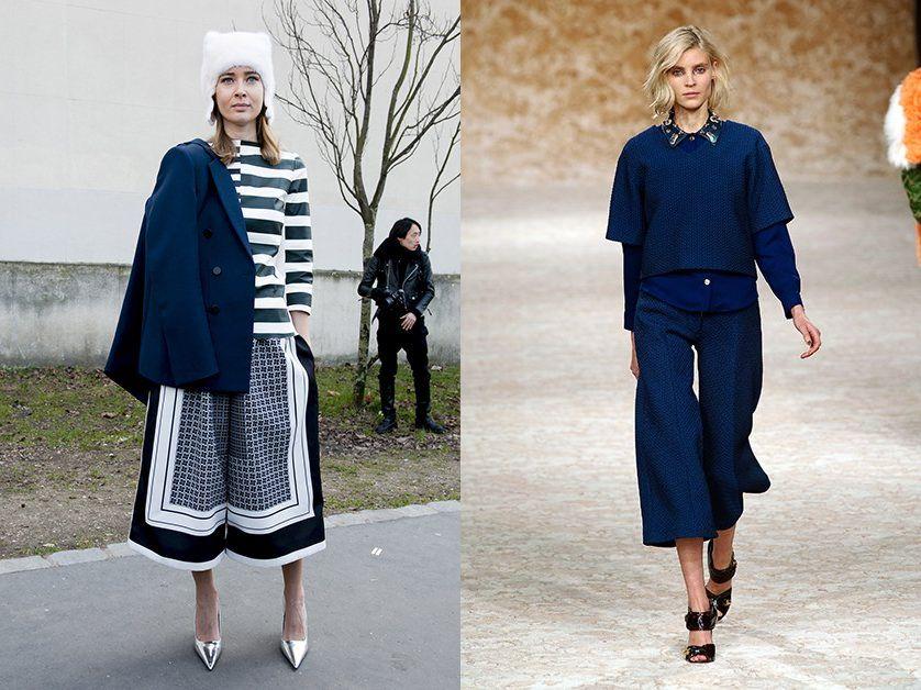 Модные женские брюки кюлоты осень-зима 2018-2019