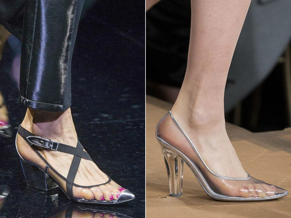Прозрачные женские туфли - тренд осень-зима 2019-2020