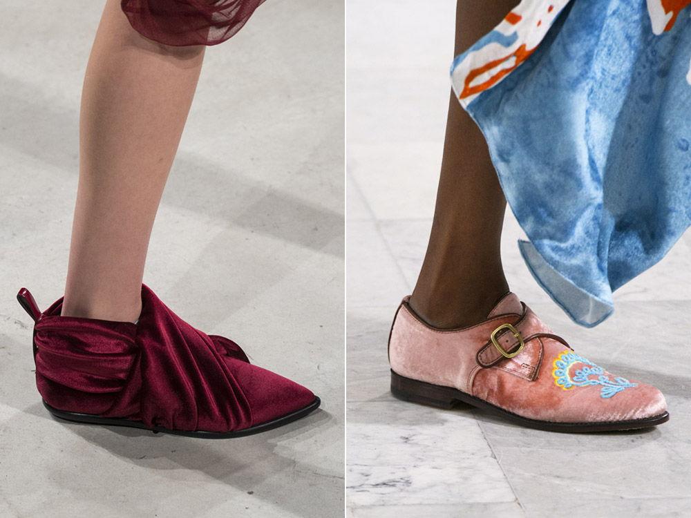 Женские текстильные туфли на низком ходу - тренд сезона осень-зима 2019-2020