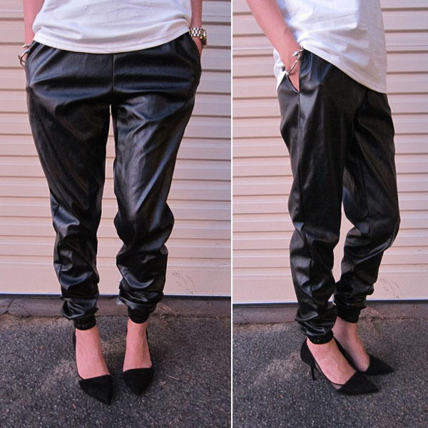 Кожаные джогеры - модные брюки осень-зима 2020-2021