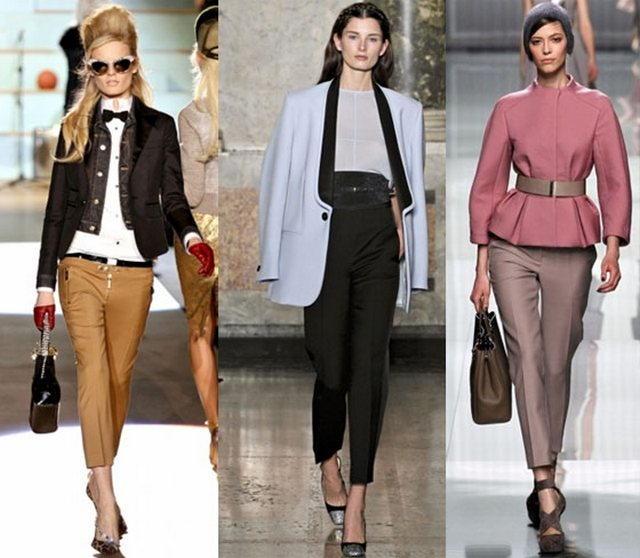 Модные укороченные брюки осень-зима 2018-2019