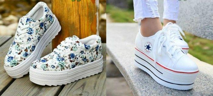 Модные кроссовки на высокой подошве осень-зима 2019-2020