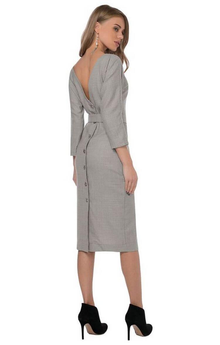 Модные деловые и офисные платья на пуговицахосень-зима
