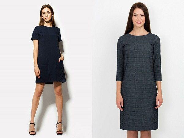 Модное офисное платье А-силуэта осень-зима 2019-202