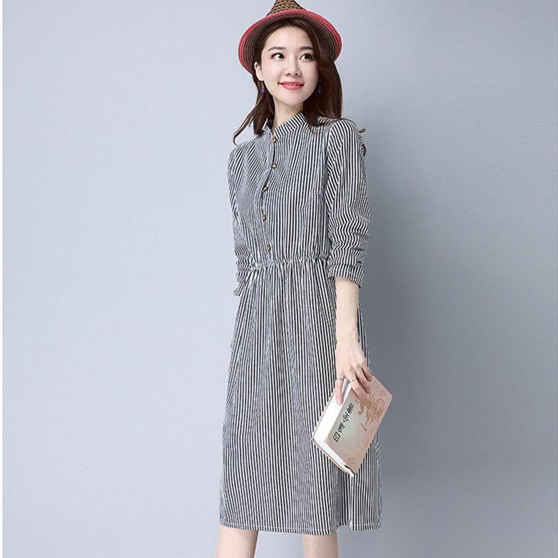Платье-рубашка с длиннми рукавами осень-зима 2018-2019
