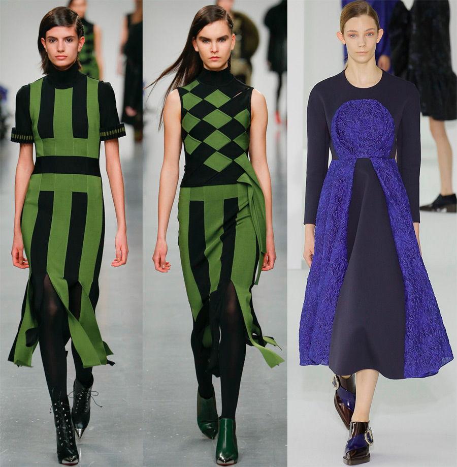 Модные расцветки повседневных платьев осень-зима 2018-2019