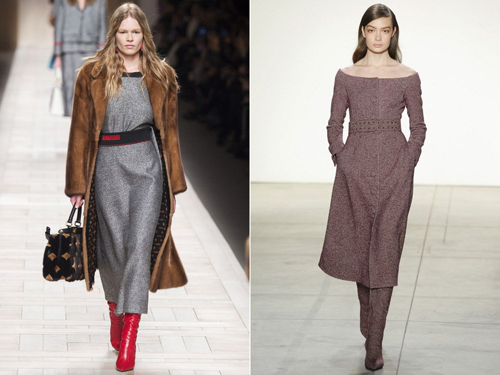 Повседневные платья осень-зима 2018-2019 из плотной ткани