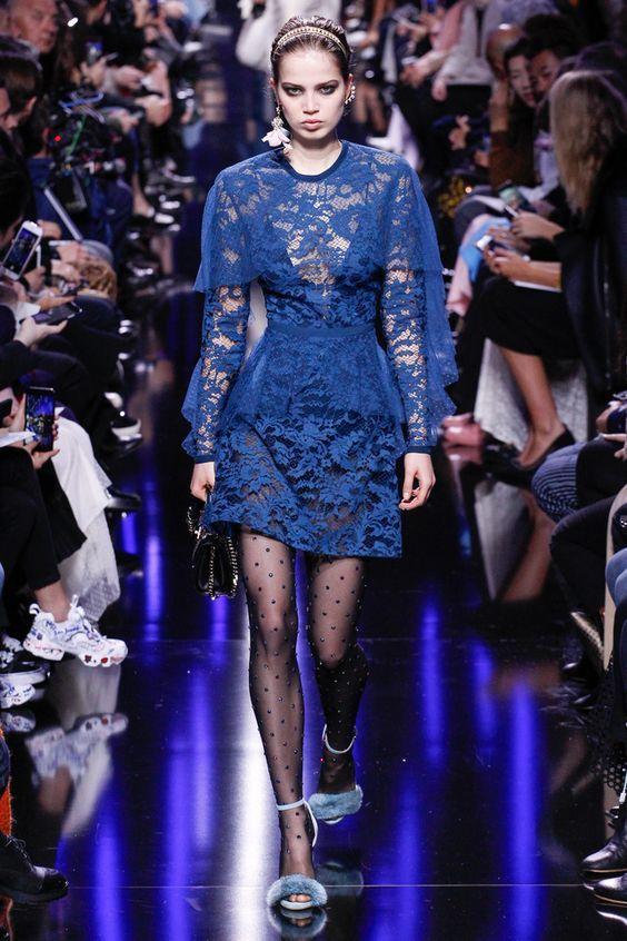 Синие коктейльное платье осень-зима 2018-2019