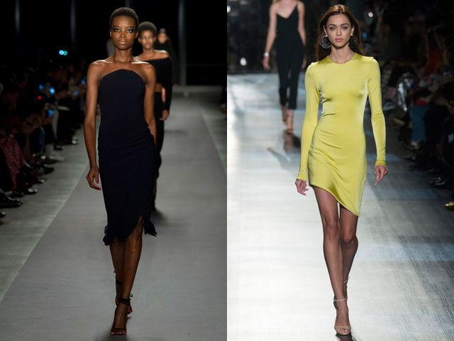 Коктейльные платья в стиле минимализм осень-зима 2018-2019