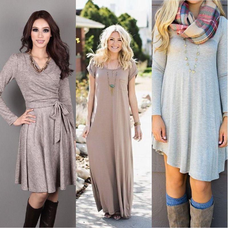 Модные повседневные платья осень-зима 2018-2019