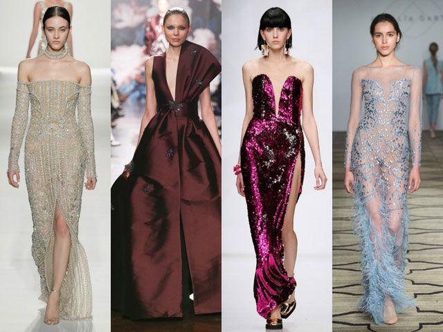Модные вечерние платья осень-зима 2018-2019