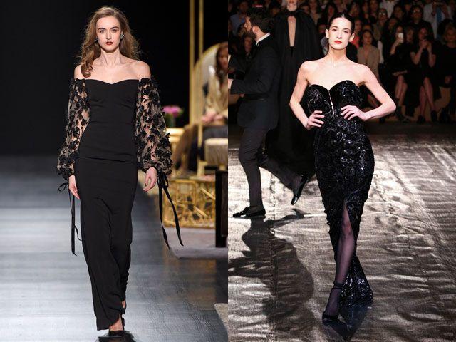 Вечерние платья черного цвета осень-зима 2018-2019