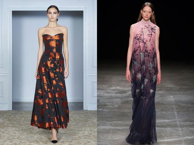 Вечерние платья с роскошным принтом осень-зима 2020-2021