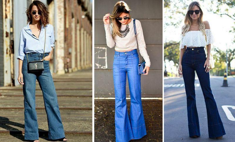 Модные джинсы с завышенной талией 2018-2019