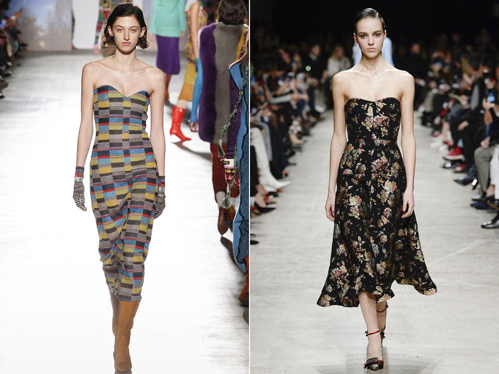 Модные платья-бюстье осень-зима 2019-2020