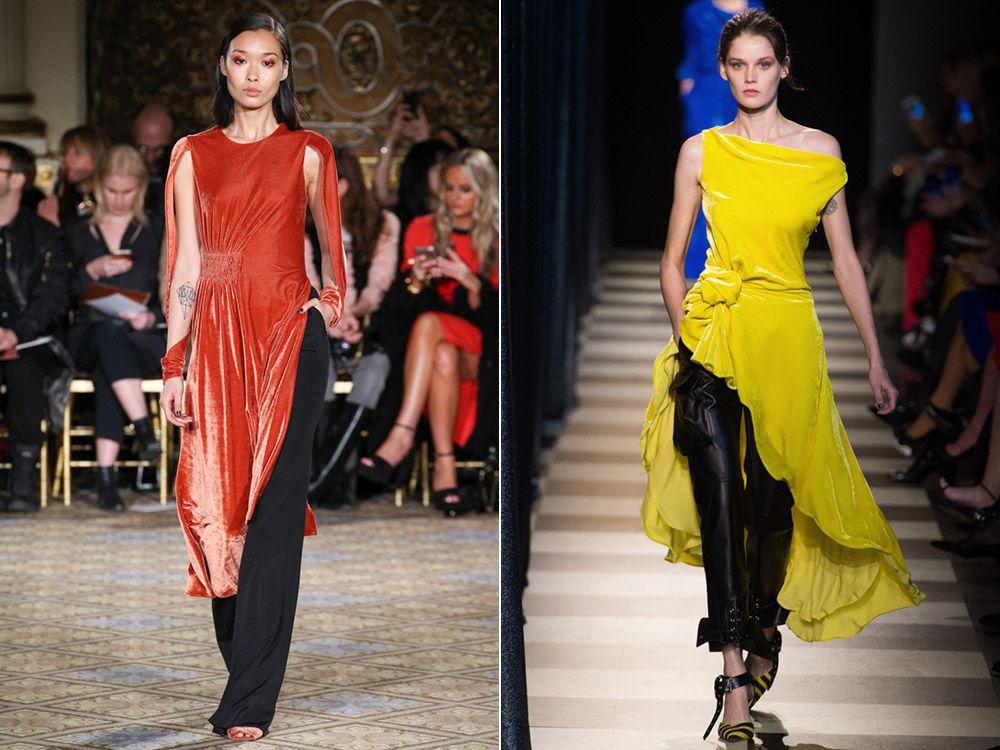 Модные тренд сезона осень-зима 2018-2019 - платье с брюками