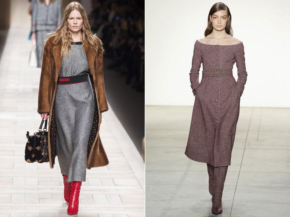 Модные платья из натуральных материалов осень-зима 2018-2019