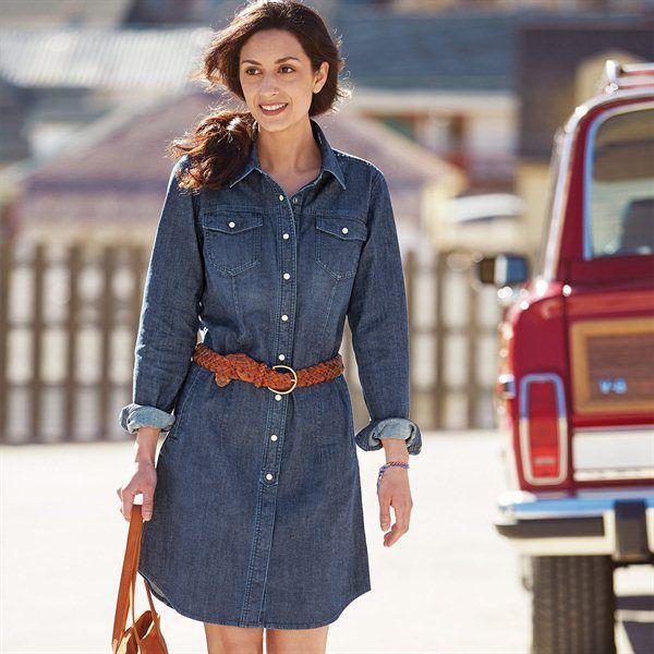 Джинсовое платье рубашка осень-зима 2018-2091
