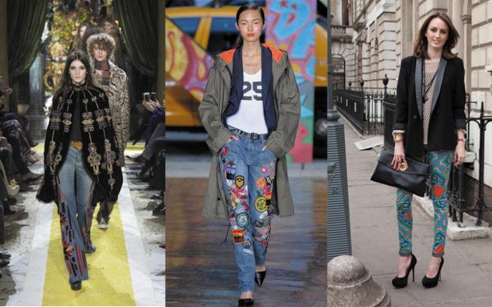 Яркие джинсы - тренд сезона осень-зима 2020-2021
