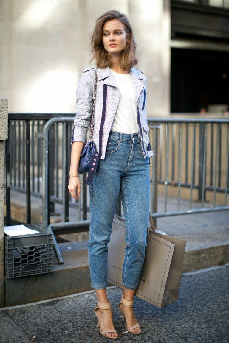 Модные джинсы с завышеной талией осень-зима 2018-2019
