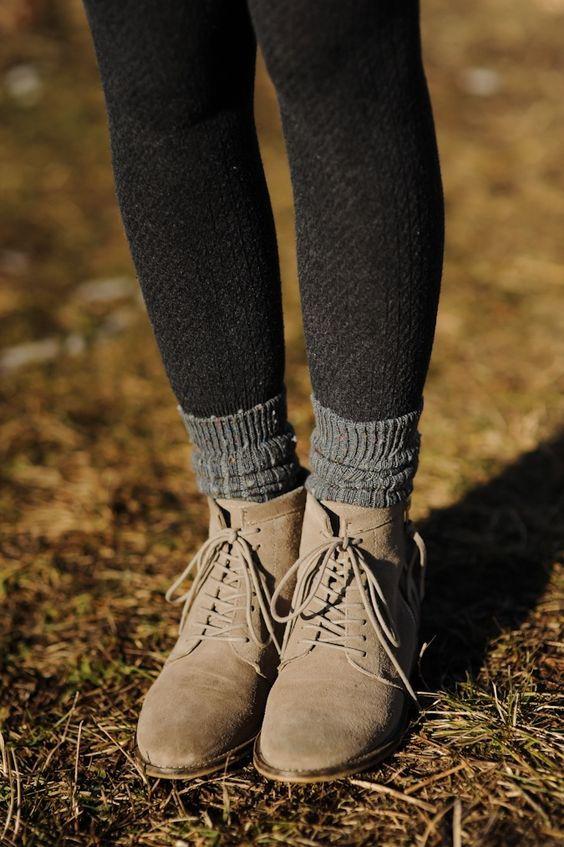 Стильные женские ботинки на низком ходу осень-зима 2018-2019