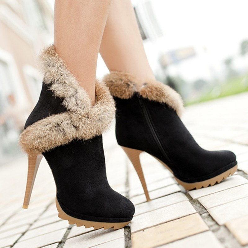 Стильные женские ботинки на высоком каблуке осень-зима 2018-2019