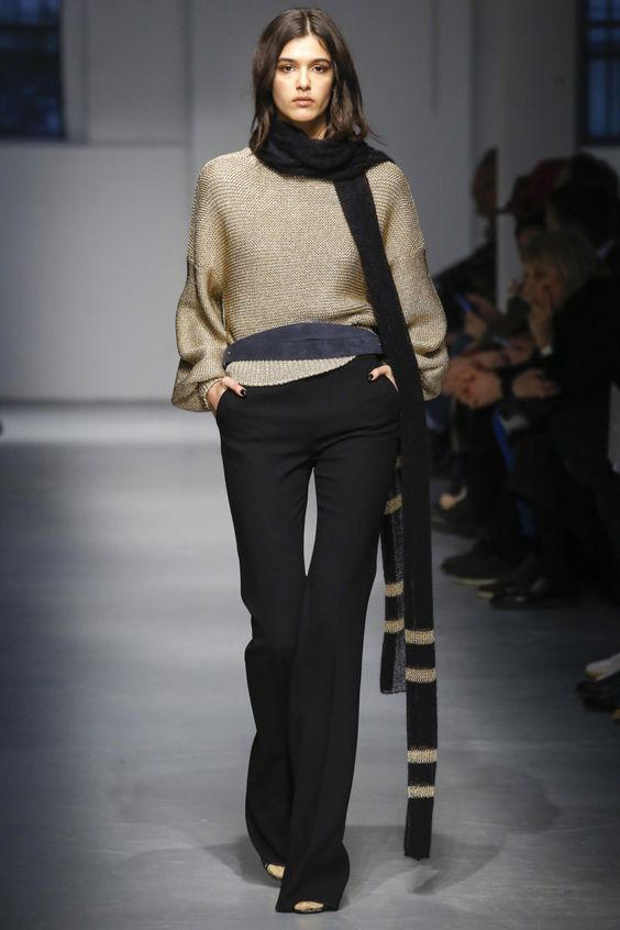 Классические брюки-клеш осень-зима 2018