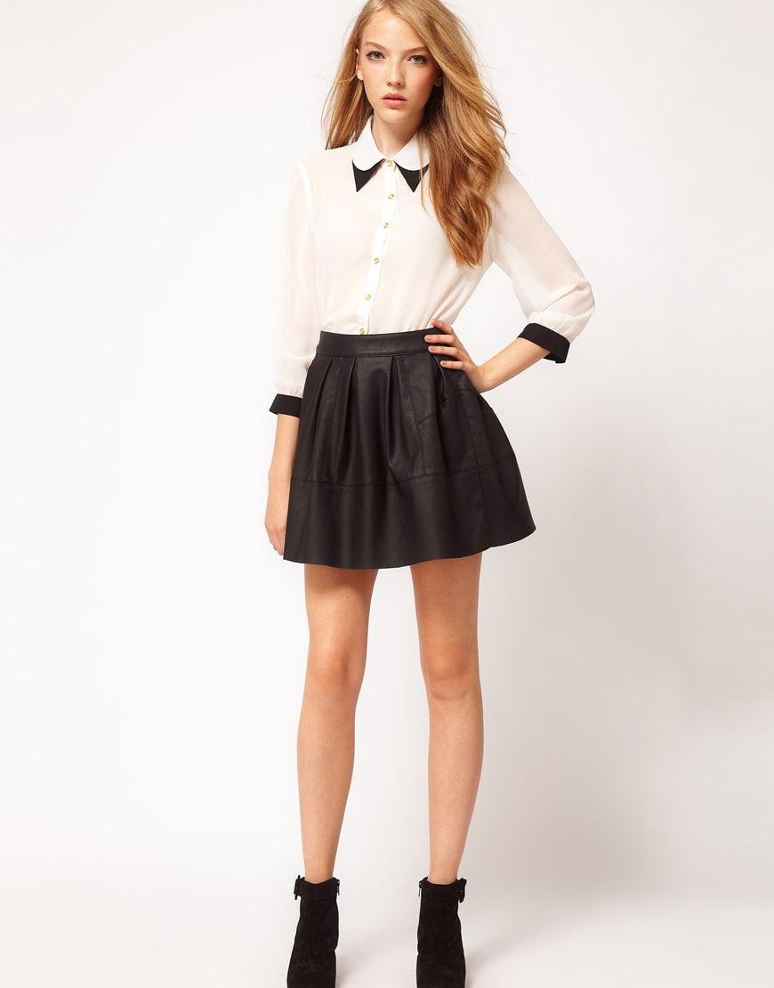 Модная юбка выше колен