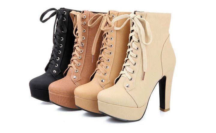 Стильные ботильоны со шнуровкой - модный тренд 2020