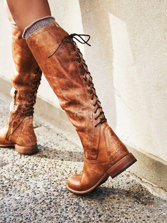 Сапоги на шнуровке 2020-2021