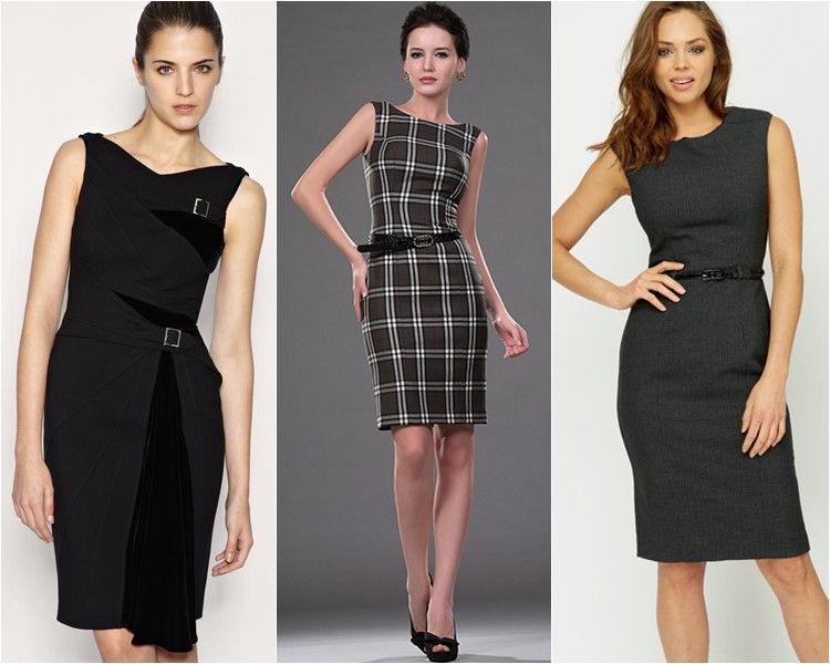 Стильные платья осень-зима