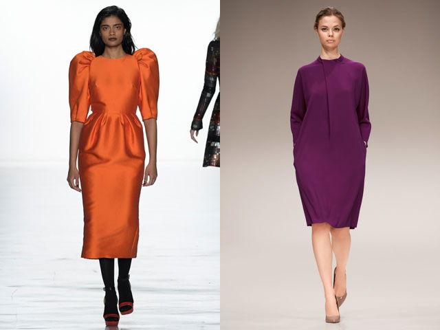 Цветные офисные платья