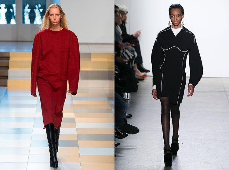 Модные платья свободного кроя осень-зима 2018-2019