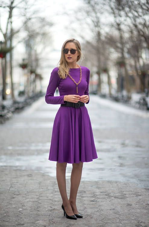 Модное офисное платье осень-зима 2019-202