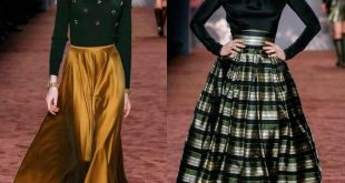 Модные юбки показ