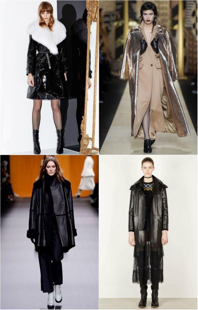 Модные женские плащи из кожи и кожзама осень-зима 2018-2019
