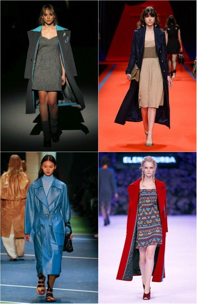 Модные женские плащи с воротником-шалькой осень-зима 2018-2019