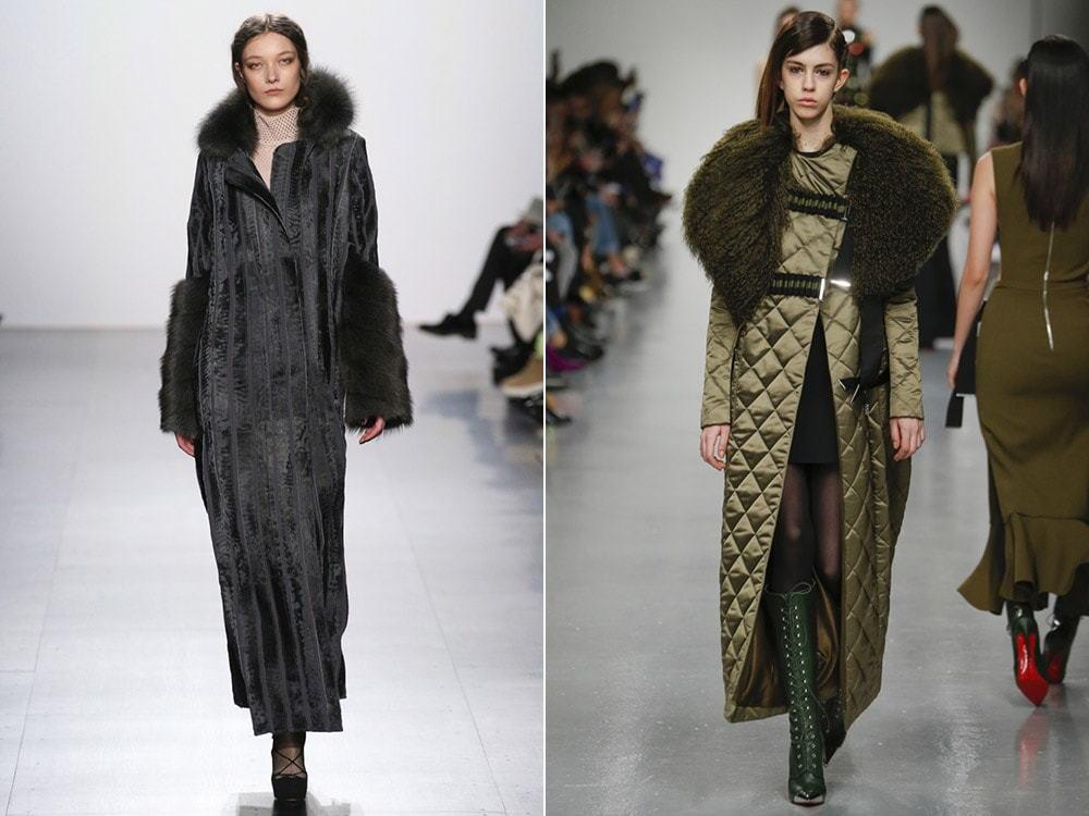 Универсальный формат длинного пальто – меховые и дутые модели