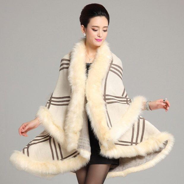 Про стильное пальто с меховой отделкой 2018-2019