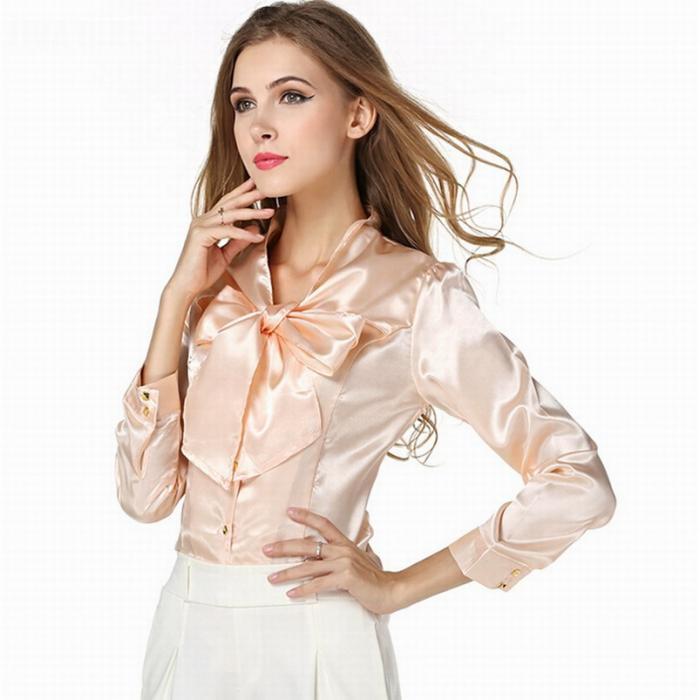Женская рубашка из атласа для светского мероприятия осень-зима 2020-2021