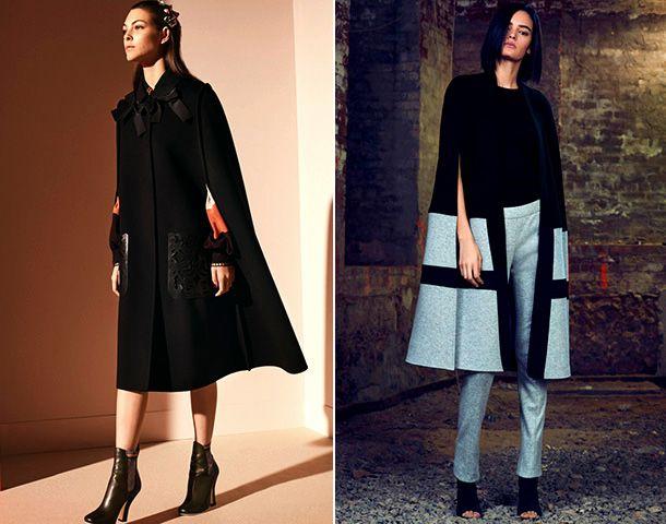 Модное пальто-кейп - тренд сезона осень-зима 2018-2019